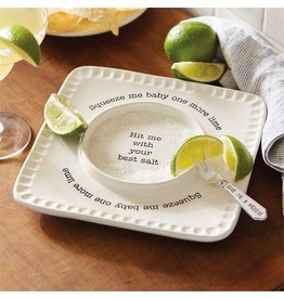 Mud Pie Lime and Salt Rimmer Set w Fork 4071130 Mud Pie Gifts