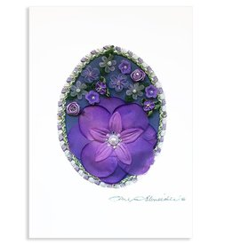 Constance Kay Art Card Lavender Flowers by Constance Kay