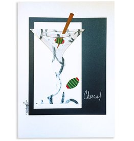 Constance Kay Art Card Martini Cheers by Constance Kay