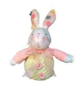Digs Plush Easter Bunny Sitter w Buttons on Ears