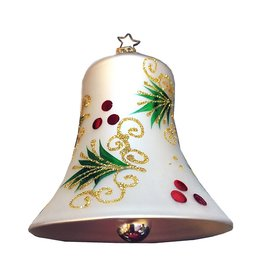 Inge-Glas Holly Boughs Bell Ornament 40120205 Inge-Glas