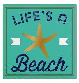Slant Lifes A Beach Beverage Napkins 20ct F146697 Slant