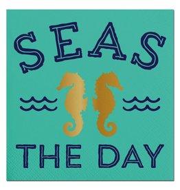 Slant Seas The Day Beverage Napkins 20ct F146696 Slant