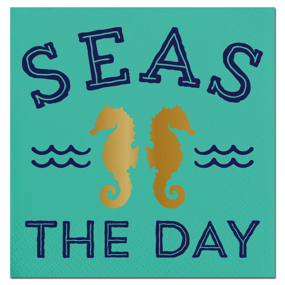 Seas The Day Beverage Napkins 20ct F146696 Slant Digs N