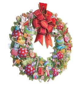 Caspari Advent Calendar Die Cut Christmas Wreath Paper Pop Up Advent