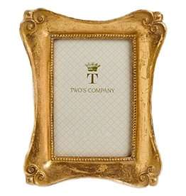 Twos Company Brocante Gold Leaf Frames Sm 4 x 6 in 50131-20-D
