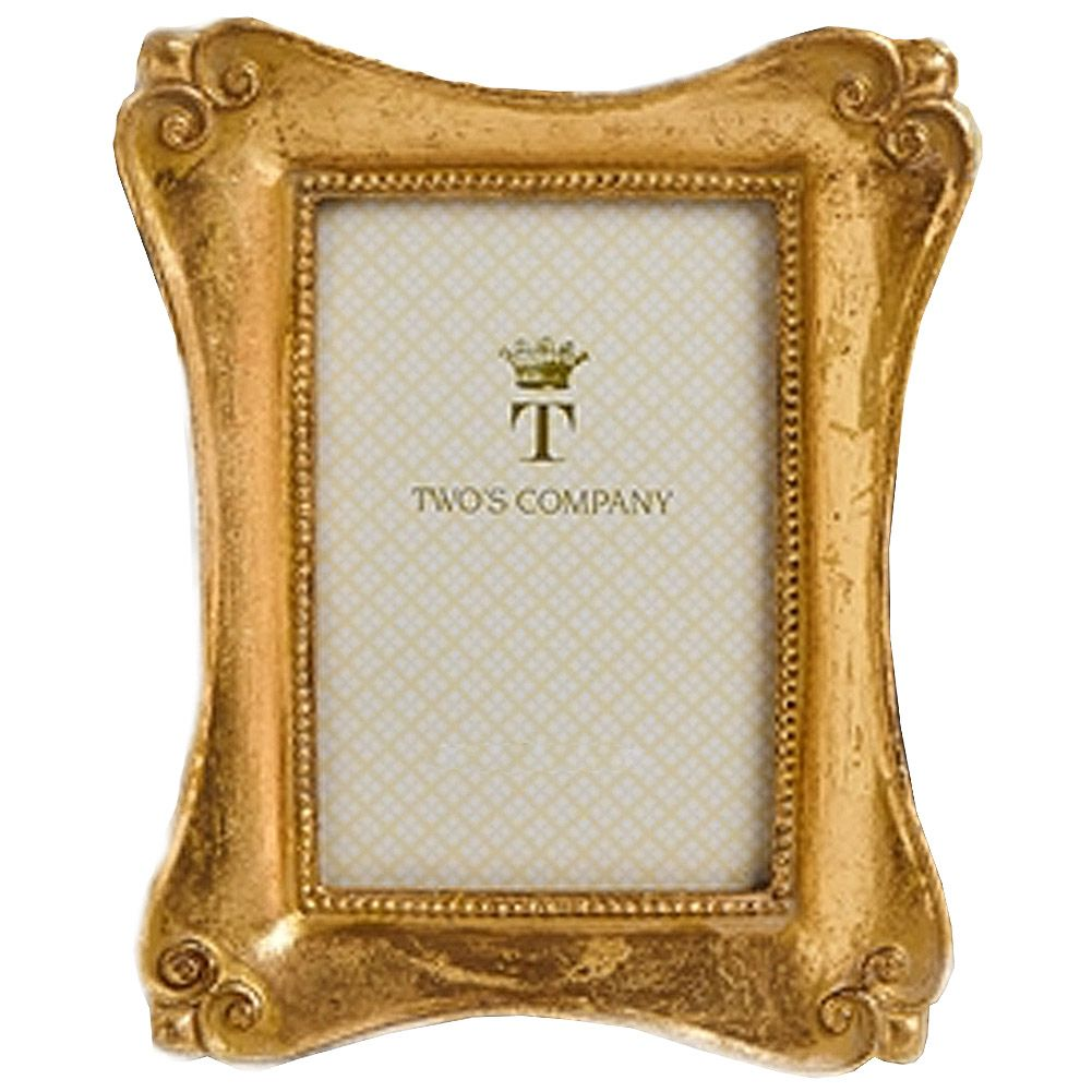 Brocante Gold Leaf Frames Sm 4 x 6 in 50131-20-D - Digs N Gifts