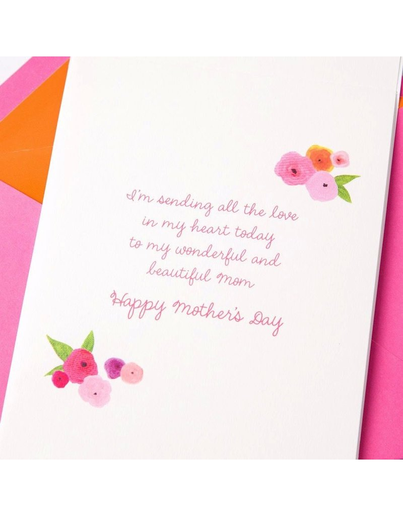 Papyrus Greetings Mothers Day Card Flower Cascade