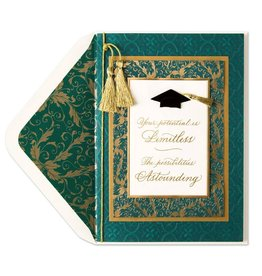 Papyrus Greetings Graduation Card-Your Potential- Emerald Embossing