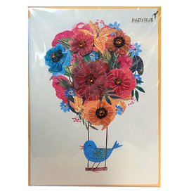 Papyrus Greetings Mothers Day Card Flower Balloon with Bird