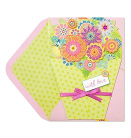 Papyrus Greetings Mothers Day Card Die-Cut Bouquet of Flowers