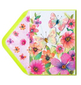 Papyrus Greetings Mothers Day Card Watercolor Butterflies