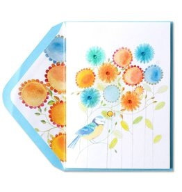 Papyrus Greetings Mothers Day Card Bird with Flowers