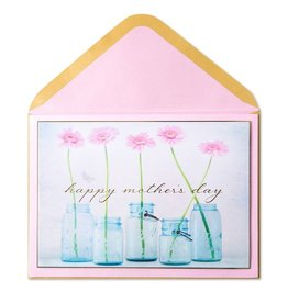 Papyrus Greetings Mothers Day Card Mason Jars w Flowers