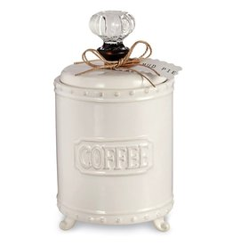 Mud Pie Vintage Sytle Door Knob Coffee Canister 4831006