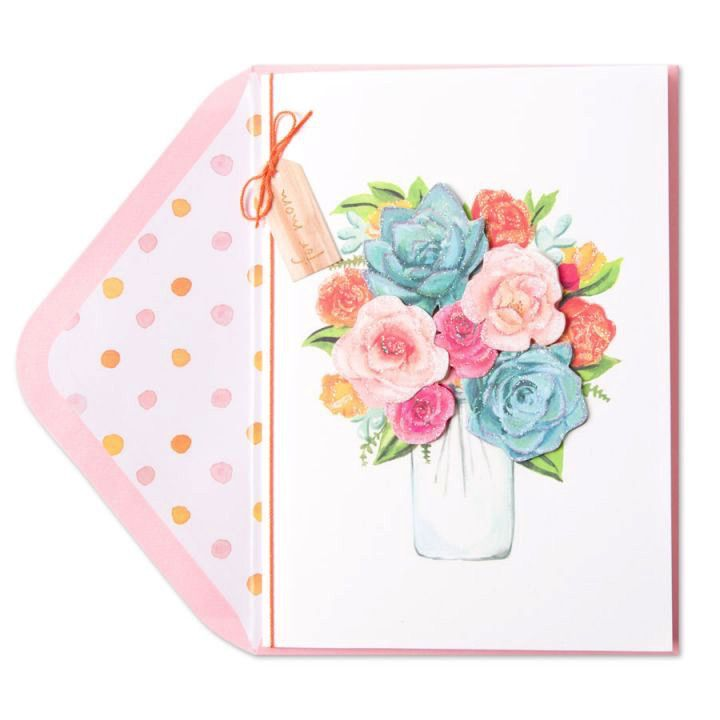Mothers day card succulent bouquet digs n gifts
