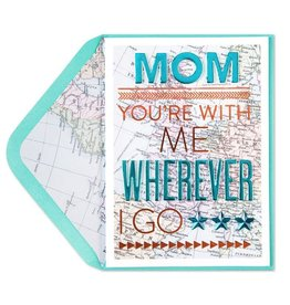 Papyrus Greetings Mothers Day Card With Me Wherever I Go Map Card