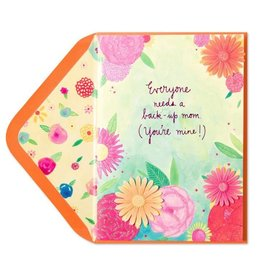 Papyrus Greetings Mothers Day Card Back-Up Mom