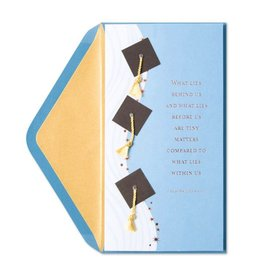Papyrus Greetings Graduation Card Grad Caps Money Enclosure