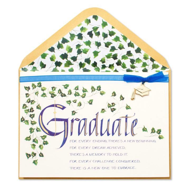 Graduation card calligraphy and ivy digs n gifts papyrus greetings graduation card calligraphy and ivy m4hsunfo