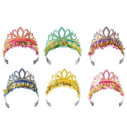 Party Partners Rainbow Glitter Tiaras Party Hats 6PK