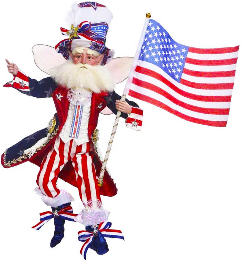 Mark Roberts Patriotic Fairies and Elves at Digs N Gifts