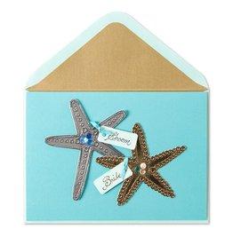 Papyrus Greetings Wedding Card Starfish Scene