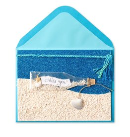 Papyrus Greetings Friendship Missing You Card Miss You in a Bottle
