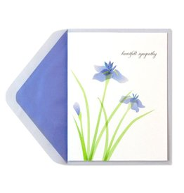 Papyrus Greetings Sympathy Card Purple Irises by Papyrus