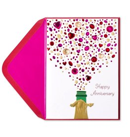 Papyrus Greetings Anniversary Card Champagne with Gems