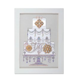 Papyrus Greetings Wedding Card Extravagant Cake w Gems