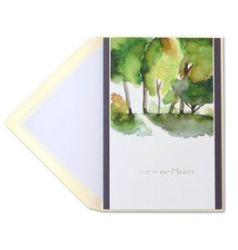 Papyrus Greetings Sympathy Card Watercolor Trees