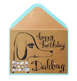 Papyrus Greetings Birthday Card Glamorous Dog