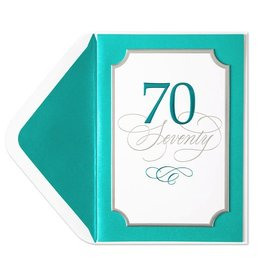 Papyrus Greetings Birthday Card 70th Elegant 70th Birthday