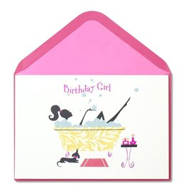 Papyrus Greetings Birthday Card Birthday Girl Bath Time
