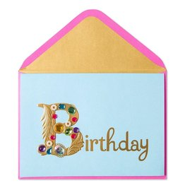 Papyrus Greetings Birthday Card Gold Birthday with Gems