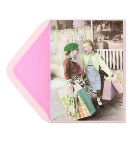 Papyrus Greetings Birthday Card 2 Girls Shopping