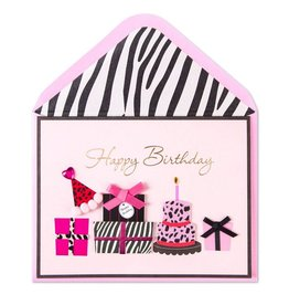 Papyrus Greetings Birthday Card Leather Animal Print