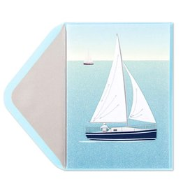 Papyrus Greetings Birthday Card Handmade Sailboat