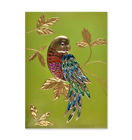 Papyrus Greetings Birthday Card Gem Parrot Tropical Bird