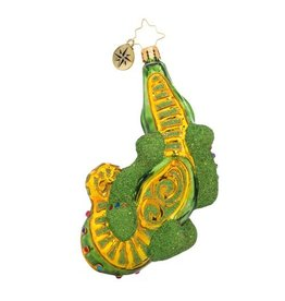 Christopher Radko Christmas Croc Be-jeweled Gator Ornament 1018792