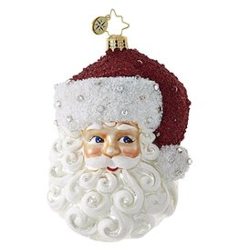 Christopher Radko Simply Fabulous Santa Christmas Ornament 1018778