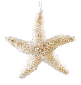 Gallerie II Glittered Natural Starfish Ornament Nautical Christmas