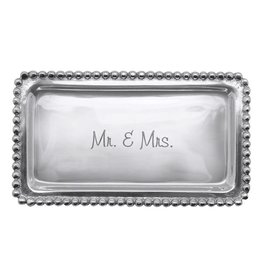 Mariposa Statement Tray w Mr and Mrs 3905MR Wedding Anniversary Gift