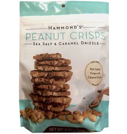 Hammonds Candies Peanut Crisps Sea Salt Caramel Drizzle 6oz Bag