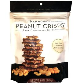 Hammonds Candies Peanut Crisps Dark Chocolate Drizzle 6oz Bag