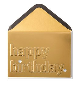 Papyrus Greetings Birthday Card Classic Fancy Gold Birthday by Papyrus