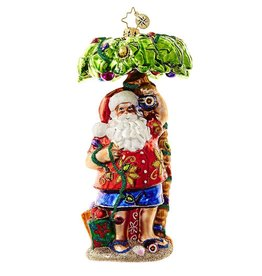 Christopher Radko Santa Claus In Paradise Ornament 1018650