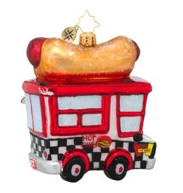 Christopher Radko Hot Diggity Dog Ornament 1018981