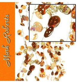 Mark Roberts Halloween Pumpkins Orange Metallic Garland 25ft